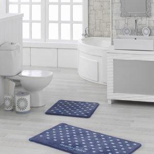 Набор ковриков для ванной Marie Claire – Lodi lacivert 57×57|57×100