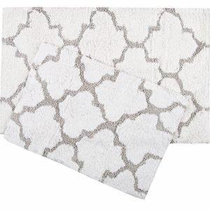 Набор ковриков Irya – Bali beyaz белый 50×80|45×60