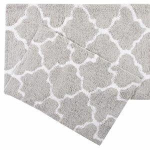 Набор ковриков Irya – Bali gri серый 50×80|45×60