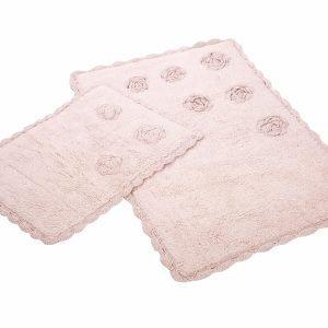 Набор ковриков Irya – Blossom pembe розовый 60×90|40×60