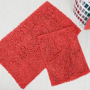 Набор ковриков Irya – Drop coral коралловый 60×100|45×60