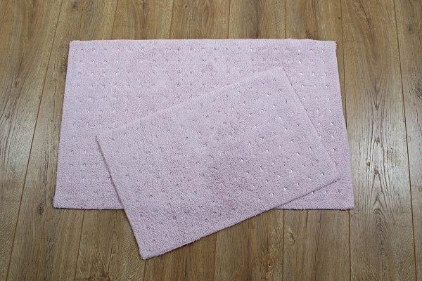Набор ковриков Irya — Esta pembe розовый 40×60|55×85