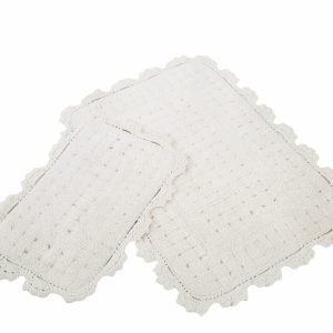 Набор ковриков Irya — Mina ekru кремовый 60×90|40×60