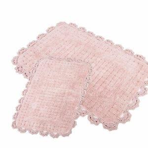 Набор ковриков Irya — Mina pembe розовый 60×90|40×60