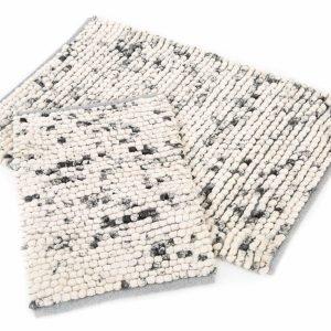 Набор ковриков Irya – Ottova gri серый 60×90|40×60