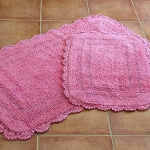 Набор ковриков Irya – Sahra pembe розовый 60×100|45×60