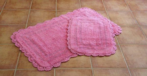 купить Набор ковриков Irya - Sahra pembe розовый (sv-7757)