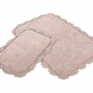 Набор ковриков Irya – Serra bej бежевый 60×90|40×60