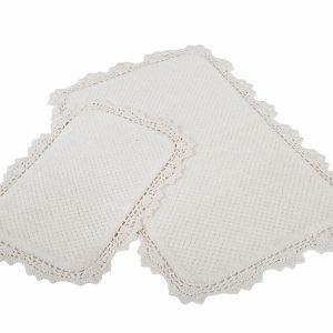 Набор ковриков Irya – Serra ekru кремовый 60×90|40×60