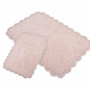 Набор ковриков Irya – Serra pembe розовый 60×90|40×60