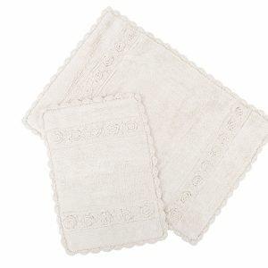 Набор ковриков Irya – Waltz ecru крем 60×90|40×60