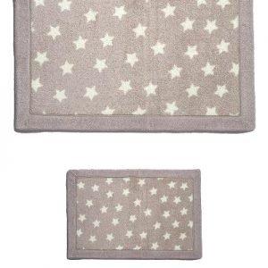 Набор ковриков Lux Suffy Yildizli Bej 40×60|60×90