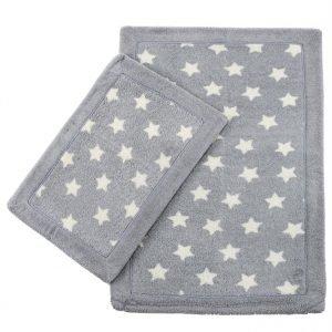 Набор ковриков Lux Suffy Yildizli Gri 40×60|60×90