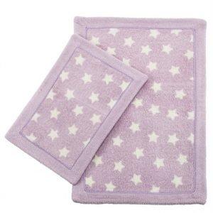 Набор ковриков Lux Suffy Yildizli Lila 40×60|60×90