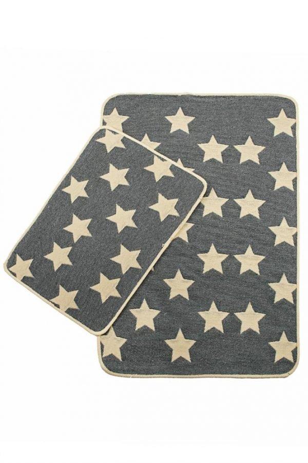 Набор ковриков Solo Krem Gri Yildiz 40x60|60x90
