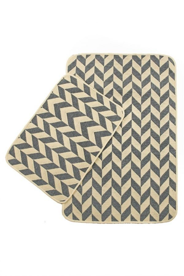 Набор ковриков Solo Krem Gri Zigzag 40x60 60x90
