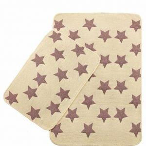 Набор ковриков Solo Krem Pembe Yildiz 40×60|60×90