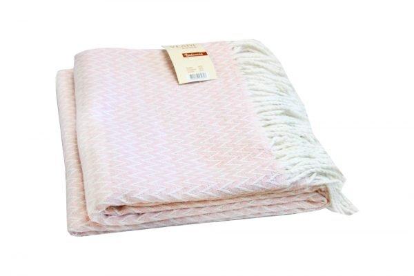 Плед Vladi Валенсия-Антонио розовый 140x200