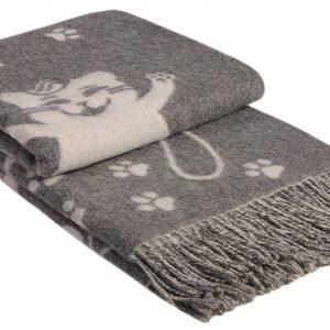 Плед Vladi Жаккард Cats серый 140×200