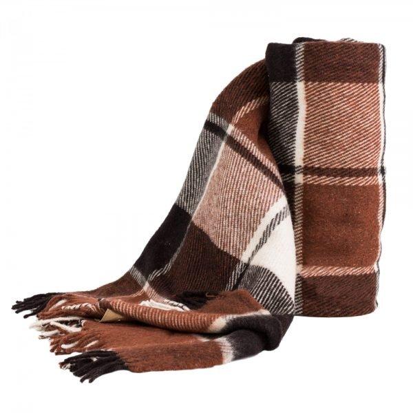 Плед Vladi Эльф темно-коричневый 140x200