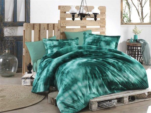 купить Постельное белье Hobby Batik Gizem зеленый (IZ-8698499137172)