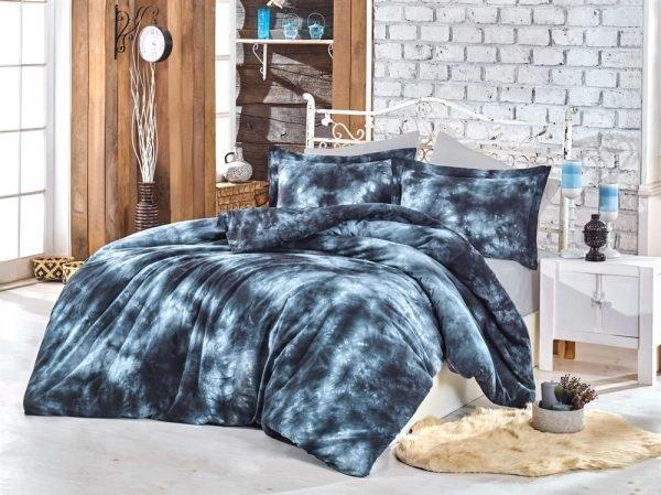 купить Постельное белье Hobby Batik Gizem синий (IZ-8698499137158)