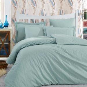 Постельное белье Hobby Exclusive Sateen Diamond Stripe бирюзовый 160×220 (2 шт)