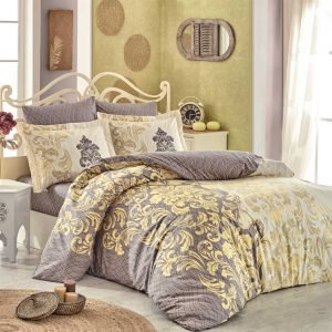 Постельное белье Hobby Flannel Mirella желтый 200×220
