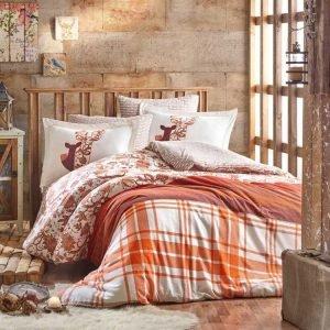 купить Постельное белье Hobby Flannel Valentina оранжевый (IZ-8698499140226-v)