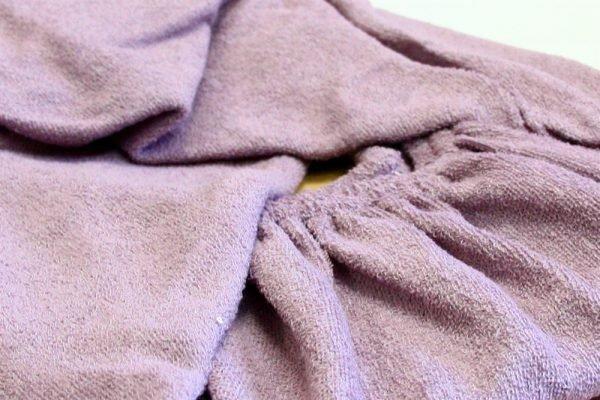 Простынь на резинке Махровая 160*200+25 фиолетовый 160x220
