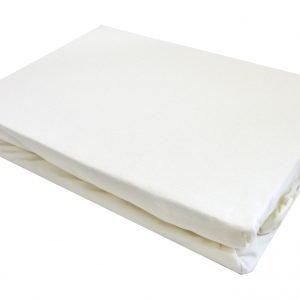 Простынь на резинке белая