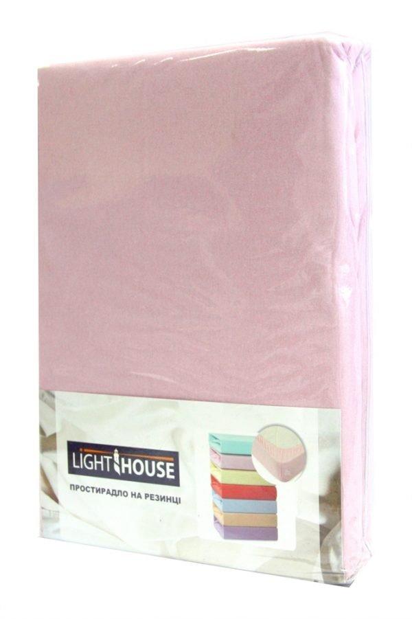 Простынь на резинке розовая 2