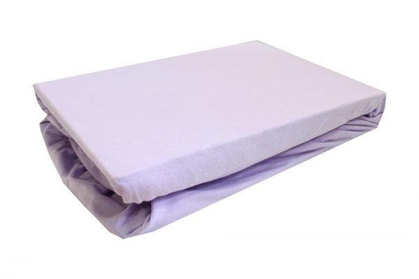 Простынь на резинке фиолетовая
