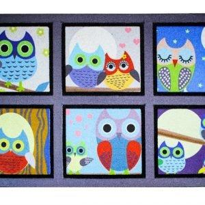 Коврик в прихожую Mozaik Sweet Baykuslar 45×75