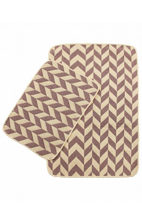 купить Набор ковриков в ванную Solo Krem Pembe Zigzag (IZ-2200000544896)