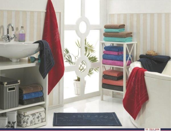 Набор 4 полотенца и коврик U.S.Polo Assn – Bradenton blue 50×100|70×140