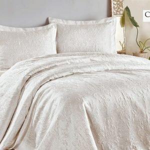 купить Покрывало с наволочками ТМ Hanibaba gardenia beyaz white Двуспальное
