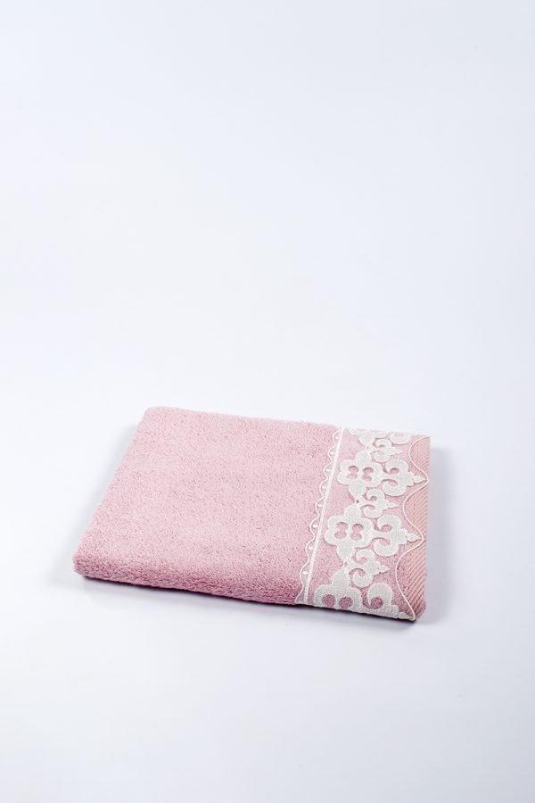 купить Полотенце бамбуковое Maxstyle - Damask pink (8339)
