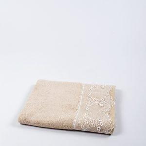 Полотенце бамбуковое Maxstyle – Dantela cofe 50×90