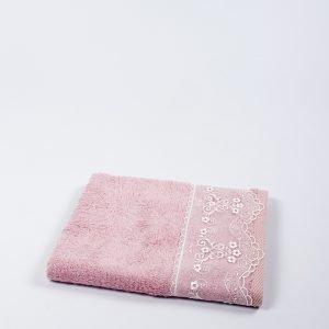 купить Полотенце бамбуковое Maxstyle - Dantela pink (8349)