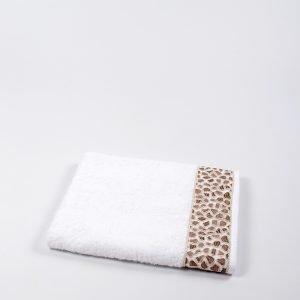 купить Полотенце бамбуковое Maxstyle - Leopar white (8341)