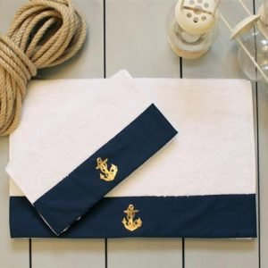 Полотенце махровое Barine – Anchor navy
