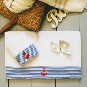 купить Полотенце махровое Barine - Anchor stripe (7845)