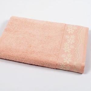 Полотенце махровое Binnur — Vip Cotton 11 розовый 2 70×140