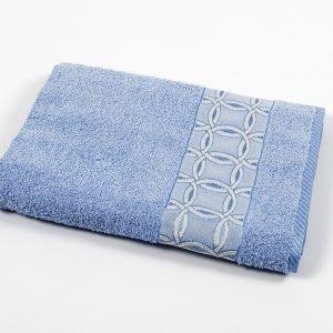 Полотенце махровое Binnur — Vip Cotton 12 blue 70×140