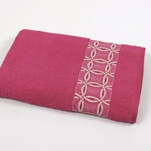 Полотенце махровое Binnur — Vip Cotton 12 pink 70×140