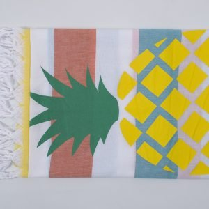 Полотенце Barine Pestemal — Ananas Orange-turkuaz-yellow 90×170