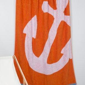 Полотенце Barine Pestemal — Anchor Oranj 100×150