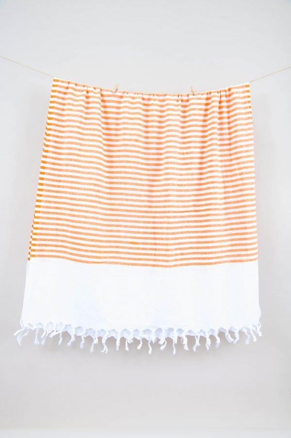 купить Полотенце Barine Pestemal - White Imbat Orange (2000022171526)