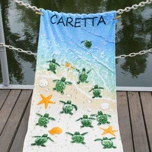 Полотенце Lotus пляжное — Caretta 75×150